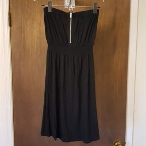 GAP black strapless sun dress size extra small